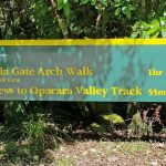 Track sign for Oparara Walks