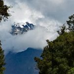 Franz Josef mountains Glacier in the clouds