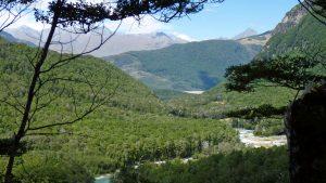 Routeburn track mountain view