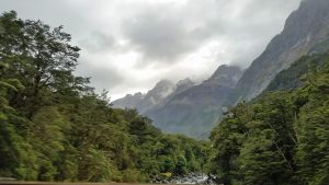 Earl and Livingston mountains along Milford Road; road trip to Milford Sound with Fiordland Tours