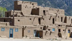 Taos Pueblo is the only living Native American community designated both a World Heritage Site by UNESCO and a National Historic Landmark.