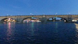 Lake Havasu City's London Bridge at night