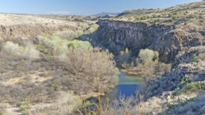 Sights and History of Verde Valley Arizona -Verde River in the Verde Valley along the Verde Canyon Railroad line