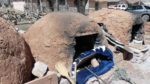 Traditional adobe oven, known as an horno, on the Zuni Reservation.